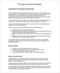 9 Training Evaluation Form Sample Free Examples Format Template Post ...
