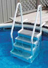 Image Summer Wave Pool Pool Ladders Rec Warehouse Pool Ladders sturdy Convenient Above Ground Pool Deck Mounts