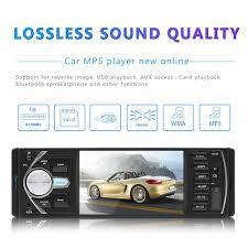 Máy nghe nhạc MP5 4,1 inch cho xe hơi Đài phát thanh FM cho xe hơi Bộ máy  phát thanh ô tô 1 ngăn Dàn âm thanh ô tô MP4 Bluetooth