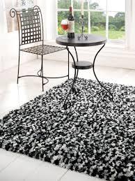 black and white modern rug