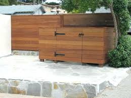 wood garbage can storage garbage can storage outdoor trash can storage cabinet fresh outdoor trash can