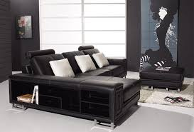 contemporary leather sofas design with shelves black leather sofa perfect