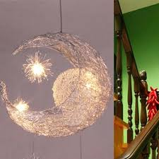 moon ceiling light moon star children kid child bedroom led pendant lamp chandelier ceiling light moonraker