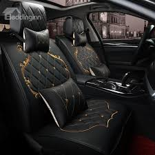 classic luxury design with beautiful gold ts universal car seat covers