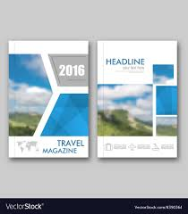 Travel Brochure Cover Design Brochure Template Of Travel Magazine Cover Design