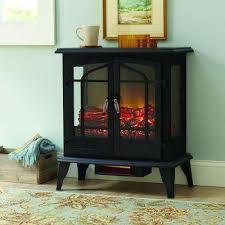 panoramic infrared electric stove in black
