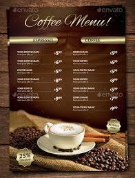 Cafe Menu Template 15 Coffee Shop Menu Designs Templates Psd Ai Indesign