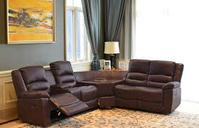 caslon collection wine brown sectional