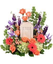 bittersweet twilight memorial urn cremation flowers urn not included