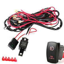 tuff led wiring harness universal red led fog lights wiring harness fuse laser rocker switch relay 12v