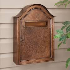 residential mailboxes wall mount. Perfect Lockable Mailbox For Your Home Inspiration: Wall Mounted Copper Latterbox Residential Mailboxes Mount