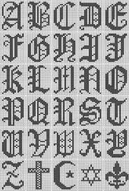 Ravelry Filet Crochet Alphabet Script Chart Pattern By Leah