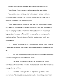 teenage suicide essay calamatildecopyo teen suicide essay causes and facts about teenage suicide
