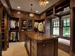 wooden walk in closet ideas with dressing island