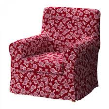 ikea rp jennylund armchair slipcover chair cover brunflo red white fl