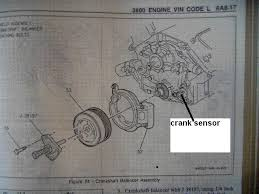 crank position sensor location on 3800 v6 buick engine gm 3800 v6 crank shaft position sensor locations picture