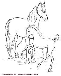Kleurennu Paard Met Een Veulen Kleurplaten