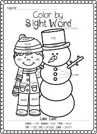 Coloring Pages Kindergarten Coloringts Pdf Sight Words For Kinder