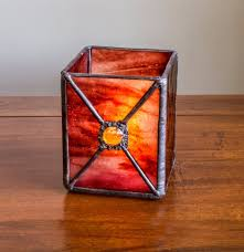 view in gallery stained glass candle holder 6