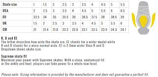 Toddler Hockey Skate Size Chart Bauer Supreme 2s Pro Jr Hockey Skates
