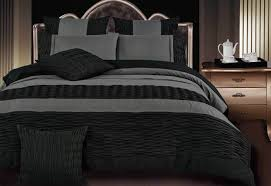 luxton lentia black and charcoal pintuck king queen duvet cover quilt cover set