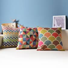 Small Picture Aliexpresscom Buy Geometric Cushion Decorative Pillows Colorful