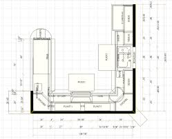 Kitchen Plans With Dimensions Graceful Kitchen Floor Plans With Dimensions  Painting Plan Designs