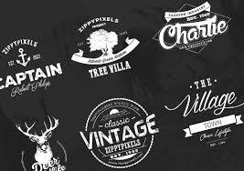 Vintage Logo Vector Logo Design Kit 15 Free Logo Templates Zippypixels