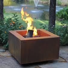 image of prefab outdoor fireplace wood burning