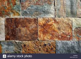 slate floor texture. Slate Stone Colorful Texture Tiles With Red Rusted Yellow And Green Blue Tones. - Stock Floor