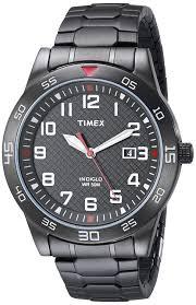 amazon com timex men s tw2p616009j main street gunmetal tone amazon com timex men s tw2p616009j main street gunmetal tone watch link bracelet timex watches