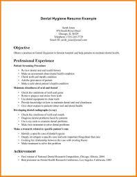 Dental Resume Examples Elegant Resume Objective For Dental Assistant