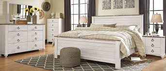 Signature Design by Ashley Willowton Whitewash Panel Bedroom Set ...
