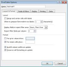 MS Excel 2010: How to Change the Name of a Pivot Table