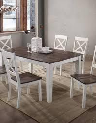 united a la carte rectangular farmhouse dining table w 6 chairs