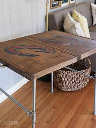 Pallet end table from reused wood Diy Industrial Folding Table Home Made By Carmona