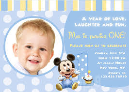 mickey mouse first birthday invitation wording ideas photo on first birthday invitation template