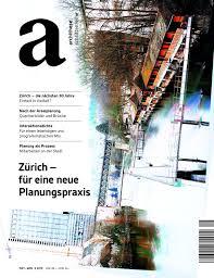 Archithese 52015 Zürich Für Eine Neue Planungspraxis By