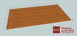 farmhouse table plans closeup