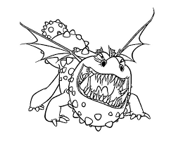 Small Picture How to Train Your Dragon Growling Gronckle Coloring Pages