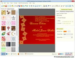 Invitations Card Maker Wedding Cards Maker Software Designs Colorful Marriage Invitation Card