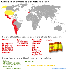 Spanish Speaking Countries – Printable Spanish
