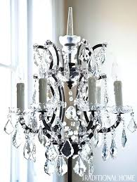 ont table lamps add glamour to the guest bedroom traditional photo garland design adding crystals chandelier adding crystals to a chandelier