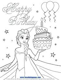 birthday coloring pages and birthday cake coloring page happy birthday colouring pages for dad