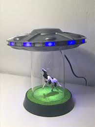 Ufo Abduction Lamp With Blinking Lights By Oneidmonstr Thingiverse