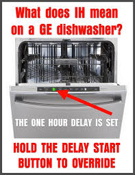 ge profile dishwasher shows code 1h