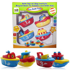 3 bees me bath toys for boys and girls magnet boat set for toddlers kids fun educational 13635