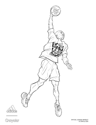 Coloring pages of dog weimaraner (self.coloringpages). Adidas X Crayola Donovan Mitchell Basketball Dunk Crayola Com