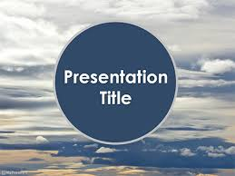 Free Sky Clouds Powerpoint Template Download Free
