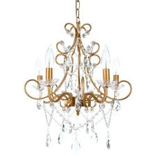 swag crystal chandelier 5 light crystal chandelier plug in swag pendant hanging lighting fixture lamp gold